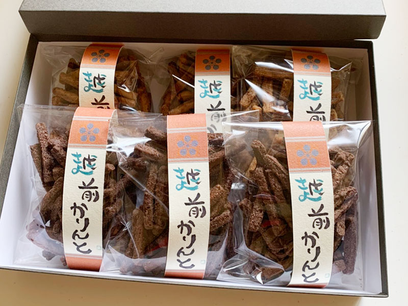 越前かりんと 福井県産の大豆を使った手作りかりんとう販売